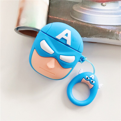 Grumpy Captain America Silicone Cover For Apple Airpods(Cover Only)