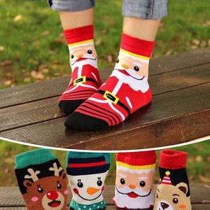 Christmas Santa Socks(Set of 4 pairs)