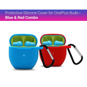Protective Silicone Cover for OnePlus Buds - Blue and Red Combo (Cover Only)