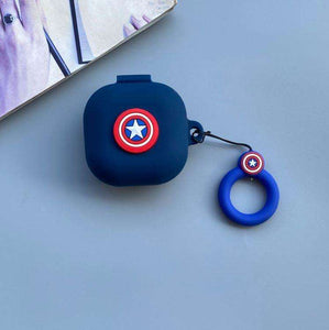 Captain America Protective Silicone Case Cover for Galaxy Buds Live (Cover Only)