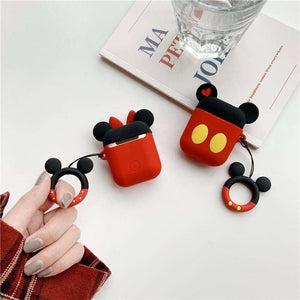Cute Mickey Silicone Cover For Apple Airpods(Cover Only)