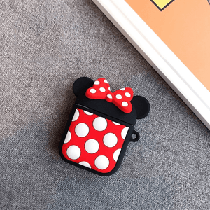 Cute Minnie Silicone Cover For Apple Airpods(Cover Only)