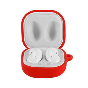 Protective Silicone Case Cover for Galaxy Buds Live - Red (Cover Only)