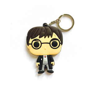 Harry Potter Multicolored Rubber Key Chain