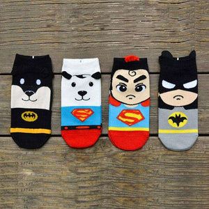 Cute Snoopy Superheros Ankle Socks(Set of 4 pairs)