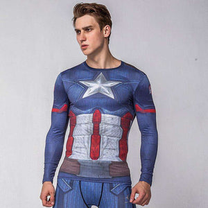 Captain America Midnight Navy Spandex