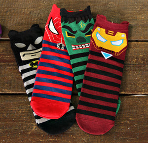 Grumpy Comic Superhero Full Length Socks(Set of 5)