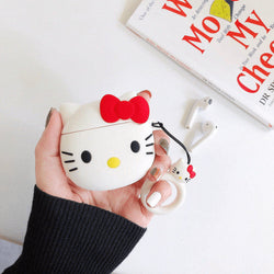 Hello Kitty Silicone Cover For Apple Airpods(Cover Only)