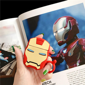 Iron-man Silicone Cover For Apple Airpods(Cover Only)
