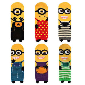Cute Comic Minions 'Despicable Me' Full Length Socks(Set of 5 Pairs)