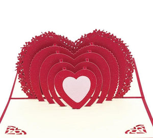 Handmade 3D Pop-up Love Greeting Card