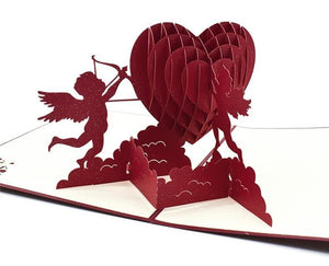 Handmade 3D Pop-up Cupid Greeting Card