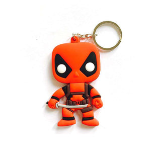 Deadpool Multicolored Rubber Key Chain