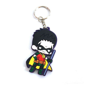 Robin Multicolored Rubber Key Chain