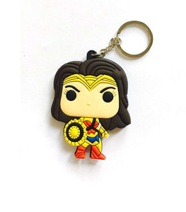 Wonder Woman Multicolored Rubber Key Chain