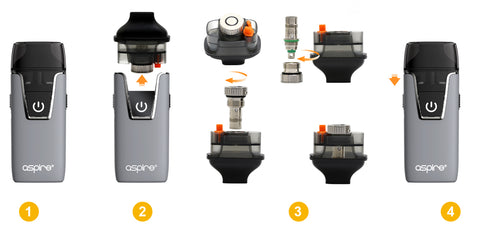 aspire nautilus aio changing coil picture guide