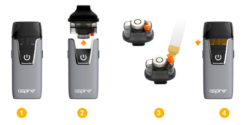 Aspire nautilus aio how to fill pod picture