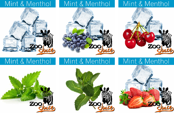 Zoo Juice mint and menthol e-liquid range