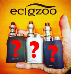Picture of vape kits held in the hand with question marks