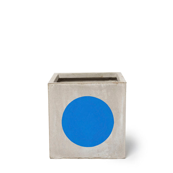 Play Pot Small Concrete Blue Spot