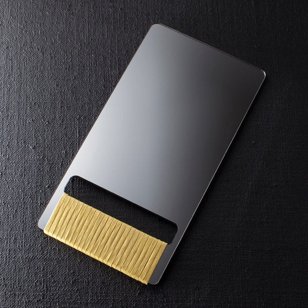 BARBER HAND MIRROR - Yellow