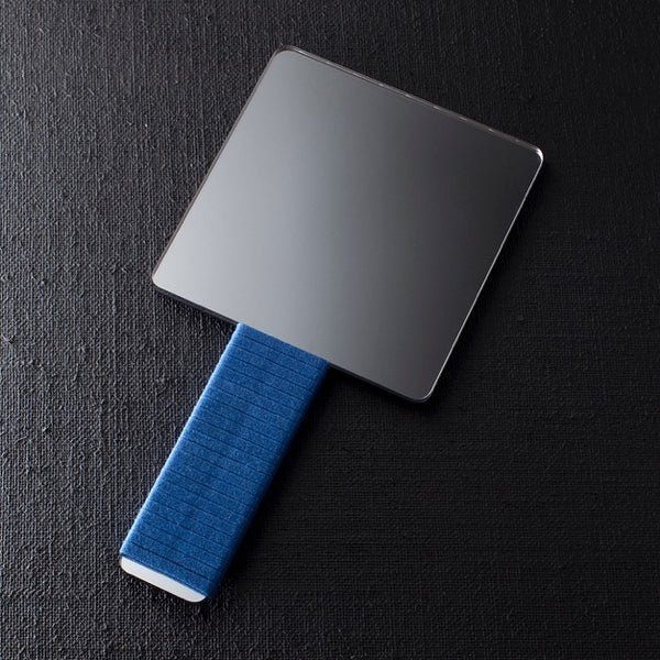 Darkroom Wallpaper Design Awards Winning Hand Mirror Blue