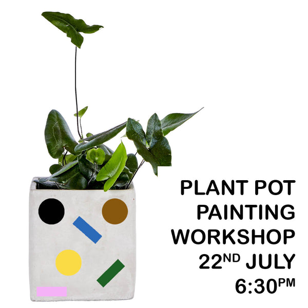 Concrete Planter painting workshop - 22nd July 6:30pm