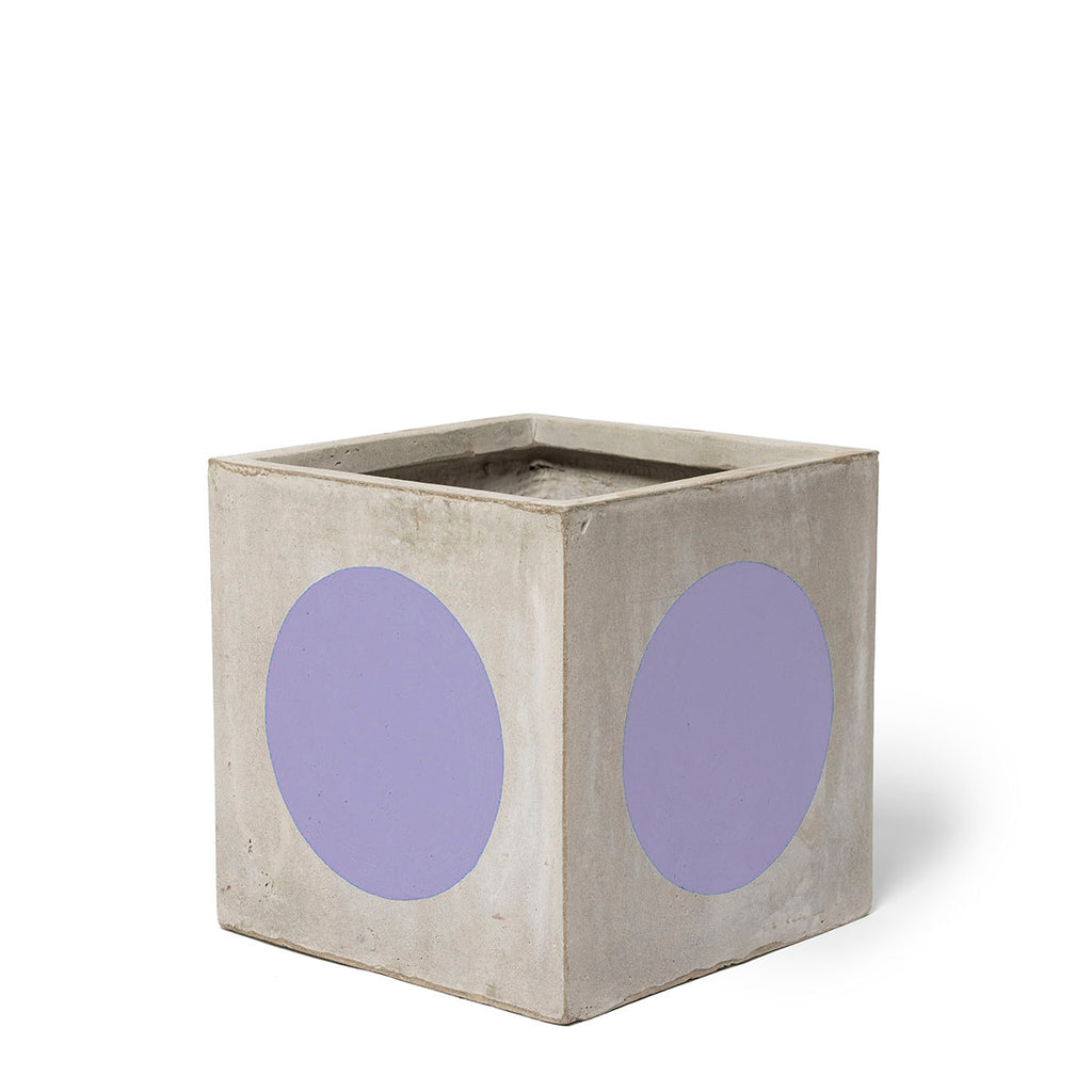 Play Pot Small Concrete Lilac Spot