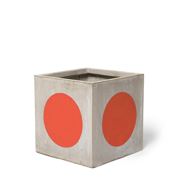 Play Pot Small Concrete Red Spot