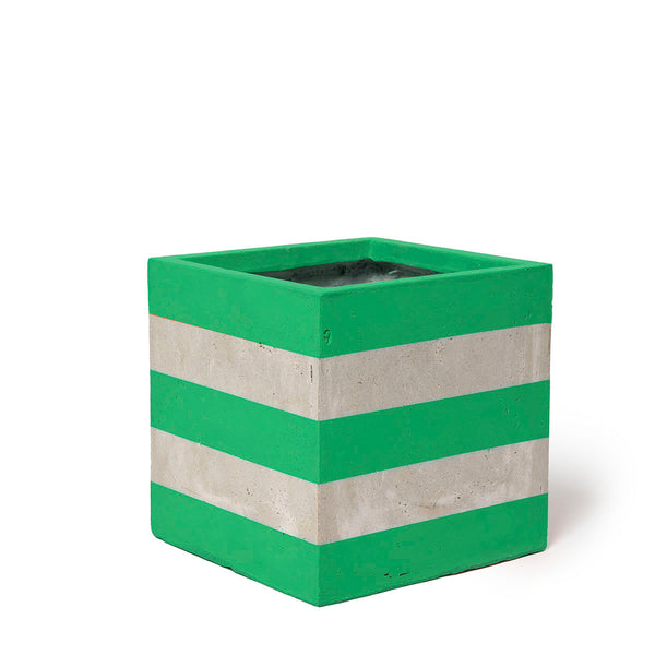 Play Pot Small Concrete Green Stripe