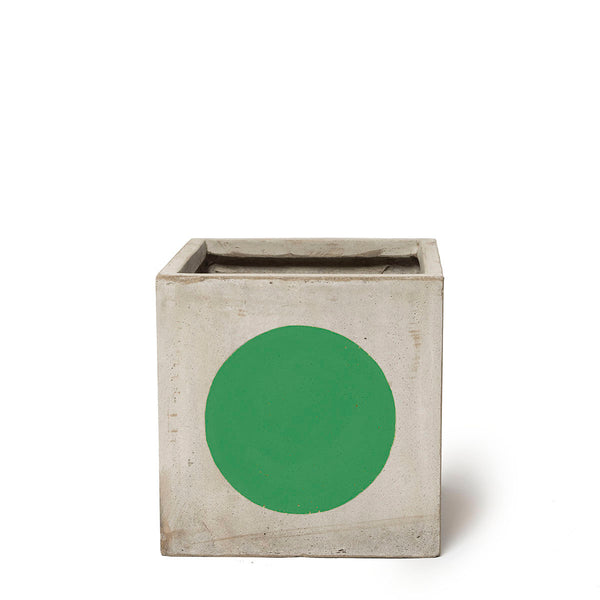 Play Pot Small Concrete Green Spot