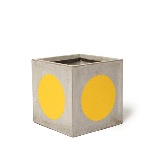 Play Pot Small Concrete Yellow Spot