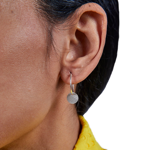 Geometry Earring — Silver Circle
