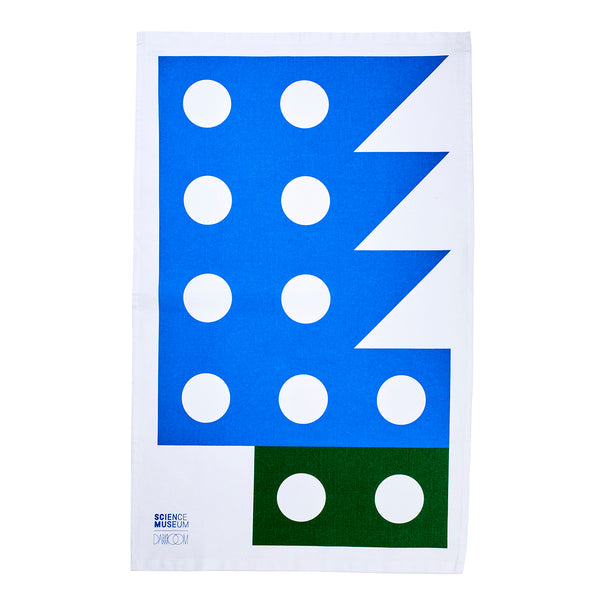 Impossible Machines Tea Towel  — Blue