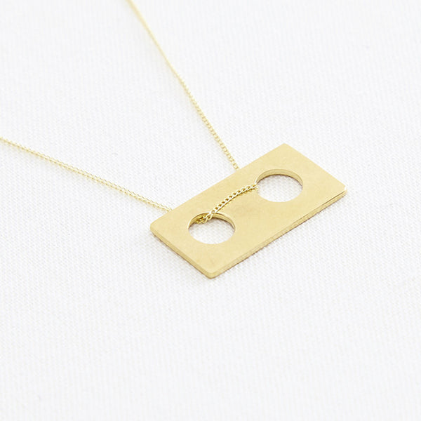 Connect Pendant Short Gold