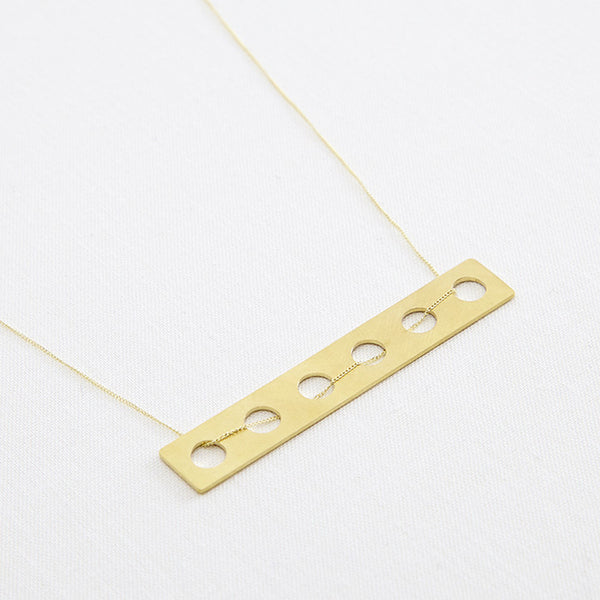 Connect Pendant Long Gold