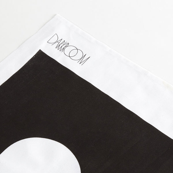 Brick Tea Towel Black
