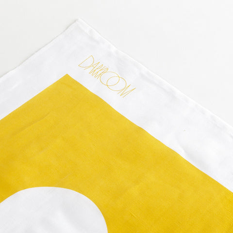 Brick Tea Towel Yellow