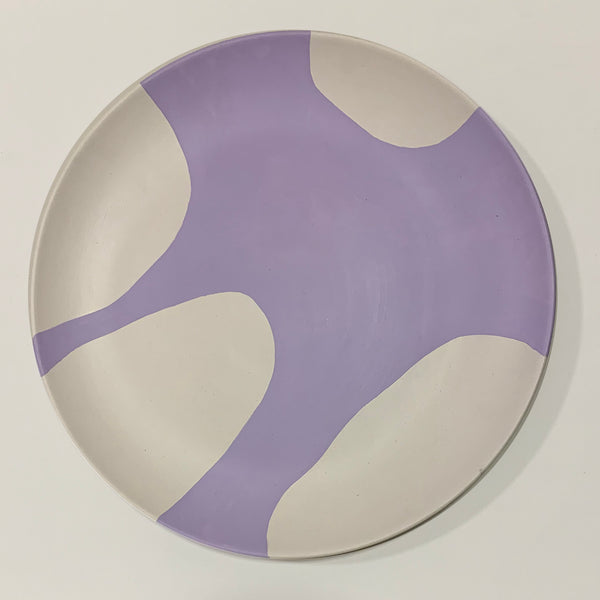 BLOB - hand-painted wall Plate - lilac