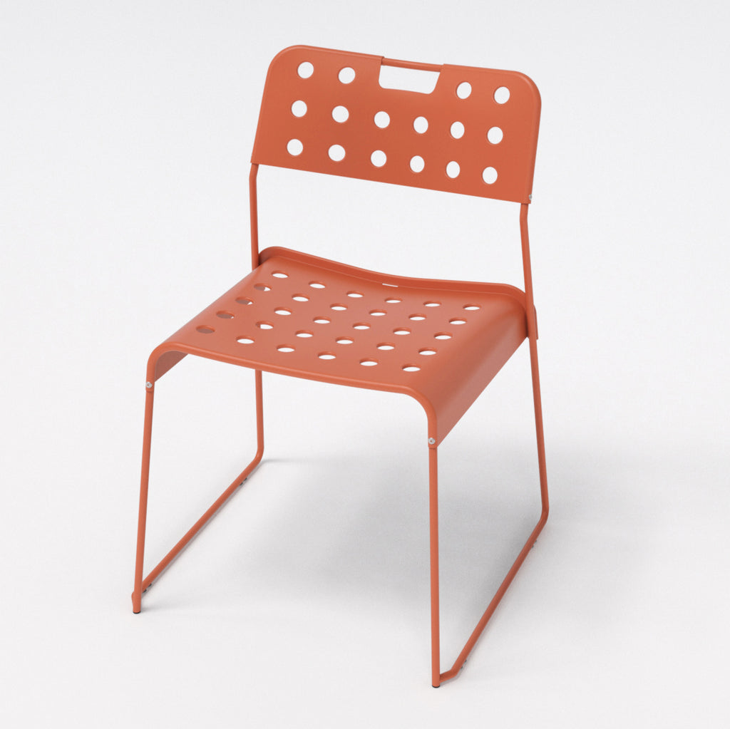Omkstak chair by OMK 1965 — salmon