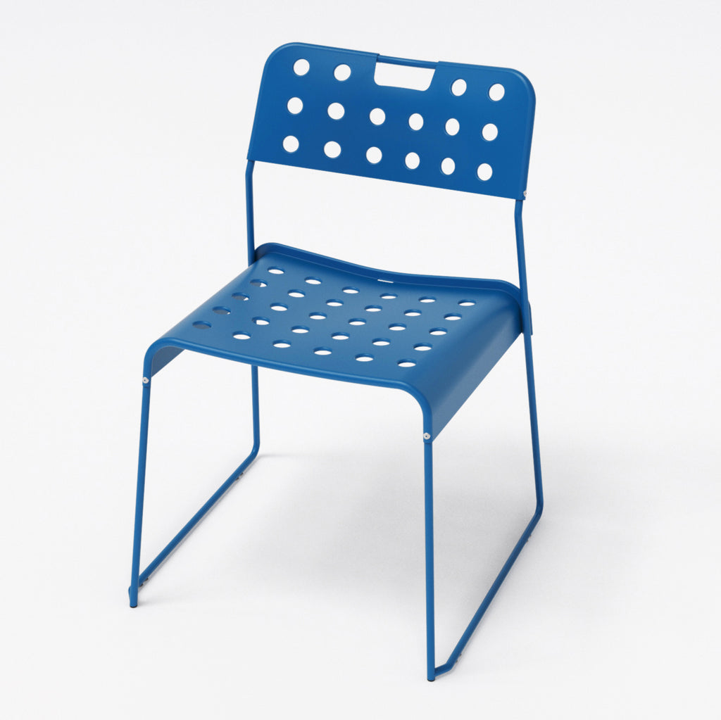 Omkstak chair by OMK 1965 — blue