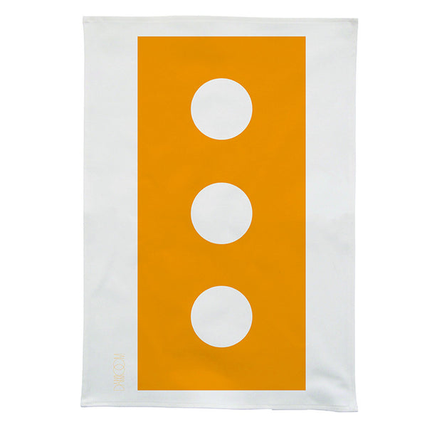 Darkroom Brick Bold Design Linen Tea Towel Yellow