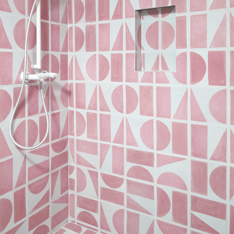 Split Shift Tile 2 Pink