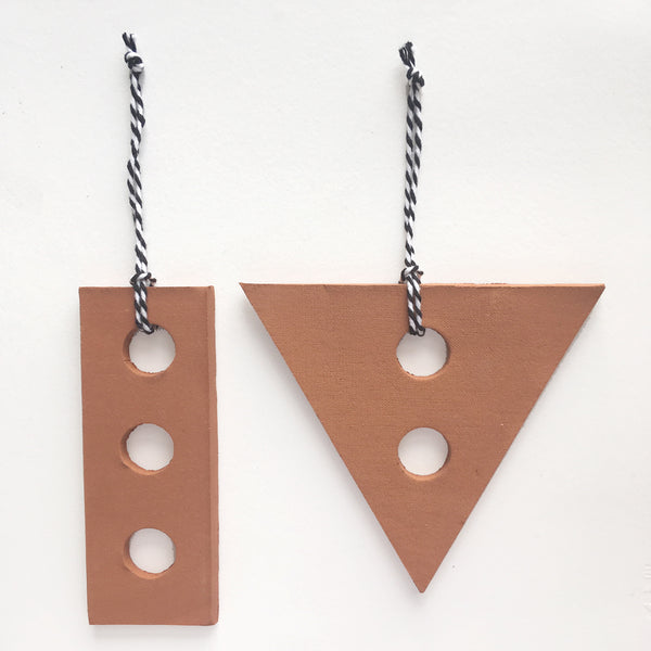 Terracotta Christmas Pendant Set — Large