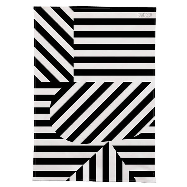 Stripe Tea Towel - Black