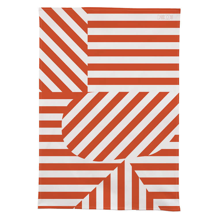 Stripe Tea Towel - Red