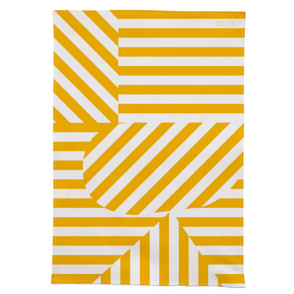 Stripe Tea Towel - Yellow