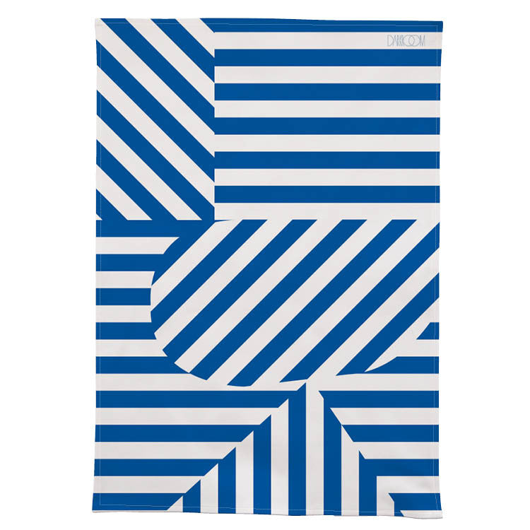 Stripe Tea Towel - Blue