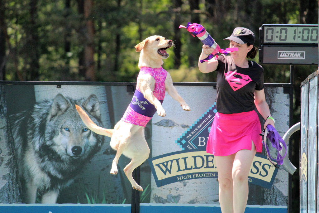 Maise, The Leaping Lunatic, Sharon Lynch DVM & DockDogs