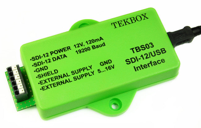 SDI-12 / USB converter, Transfer Mode, Auto-measurement Mode, SDI-12 Monitor Mode TBS03/OTBS03-1